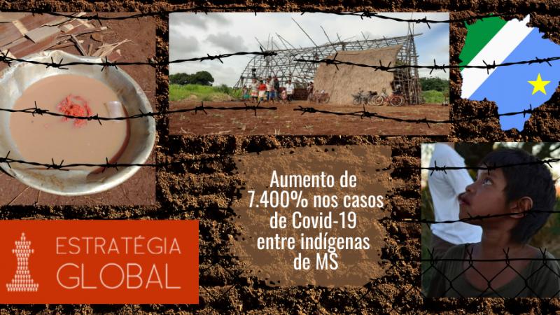 Em 17 dias o aumento de  casos de Covid-19  é de 7.400%  entre Indígenas de Mato Grosso do Sul
