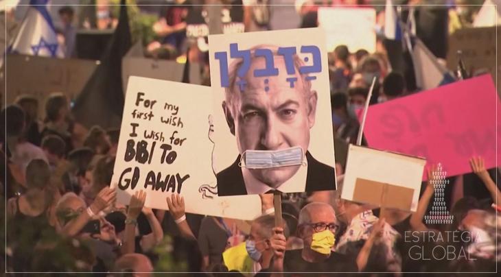Seguem os protestos em Israel exigindo a renúncia de Netanyahu
