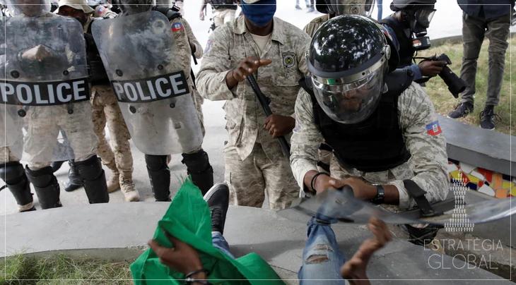 Haitianos protestam pela renúncia do presidente