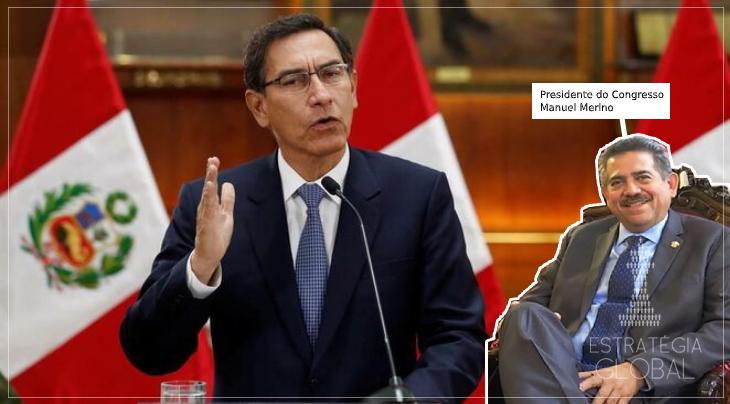 Congresso peruano remove o presidente Martín Vizcarra do cargo