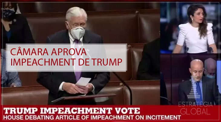 Câmara aprova impeachment de Trump