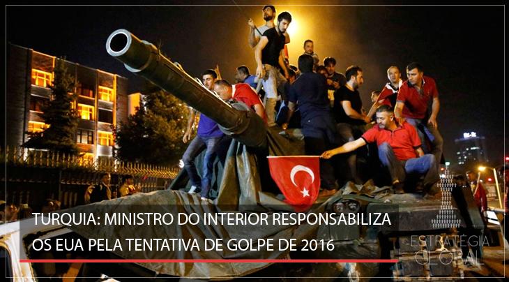 Turquia: ministro do Interior responsabiliza os EUA pela tentativa de golpe de 2016
