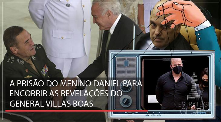 A prisão do menino Daniel para encobrir as revelações de Villas Boas