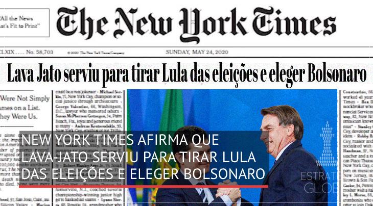 New York Times afirma que Lava Jato serviu para tirar Lula das eleições e eleger Bolsonaro