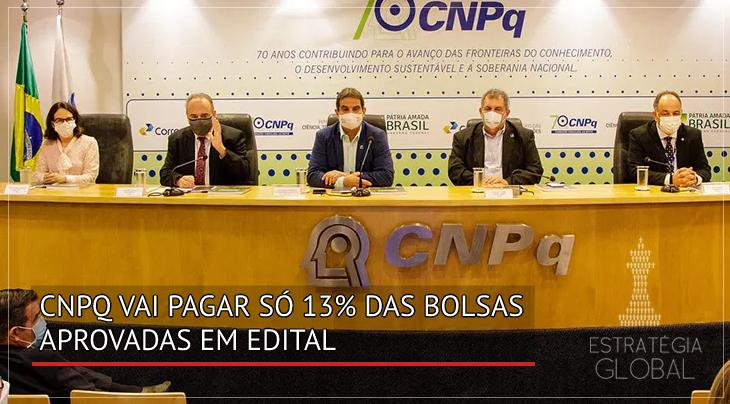 CNPq vai pagar só 13% das bolsas aprovadas em edital