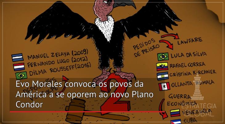 Evo Morales convoca os povos da América a se oporem ao novo Plano Condor