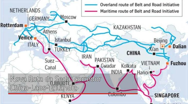Nova Rota da Seda: corredor China-Laos-Tailândia