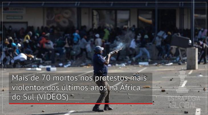 Mais de 70 mortos nos protestos mais violentos dos últimos anos na África do Sul (VÍDEOS)