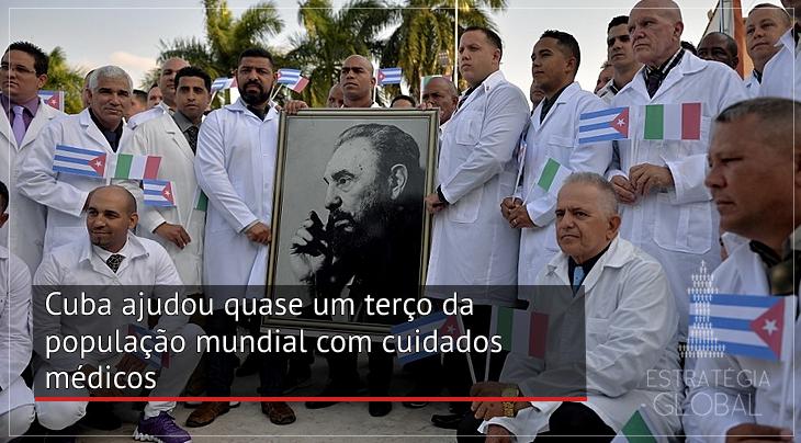Cuba ajudou quase um terço da população mundial com cuidados médicos