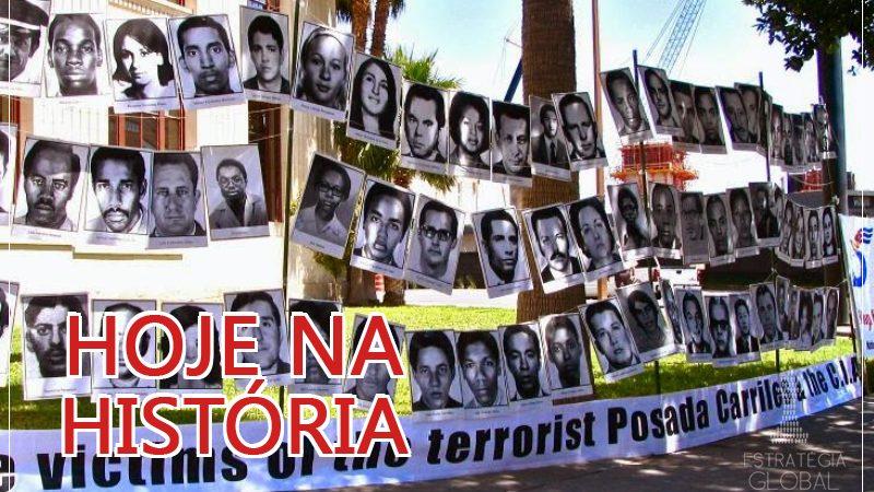 Hoje na História: o atentado contra o avião cubano apoiado pela CIA
